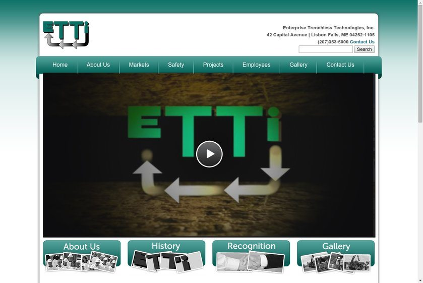 Enterprise Trenchless Technologies Website