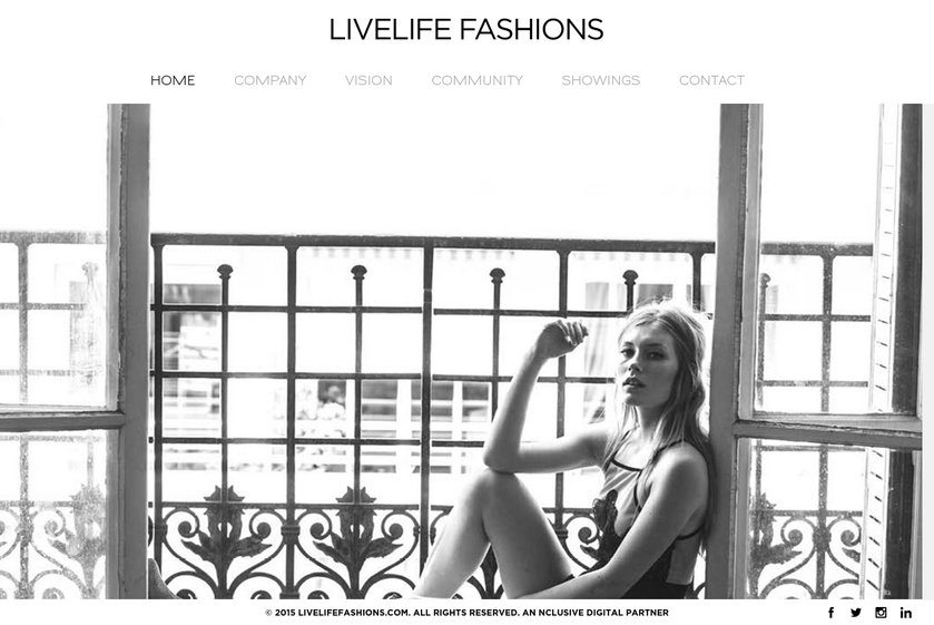 LiveLife Fashions Website