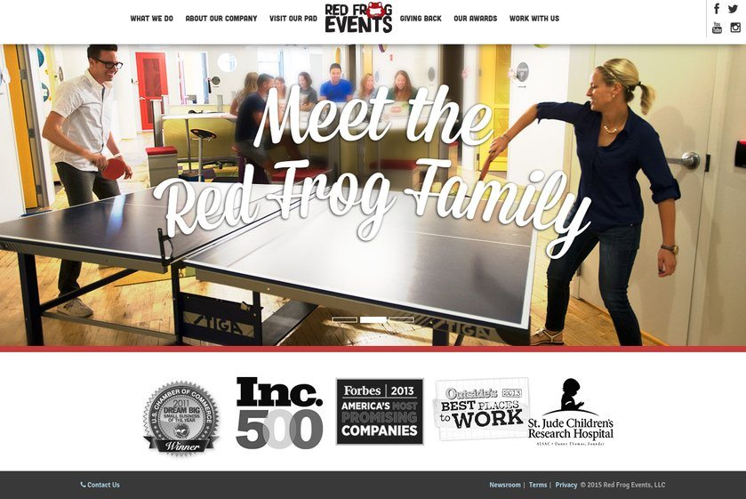 Red Frog Events Website
