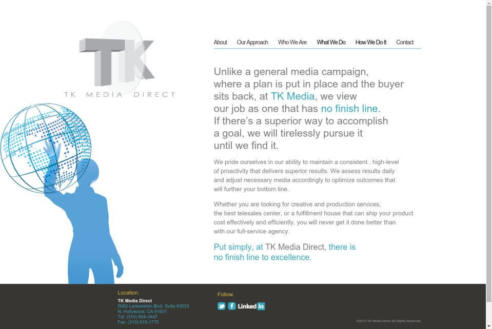 TK Media Direct Website