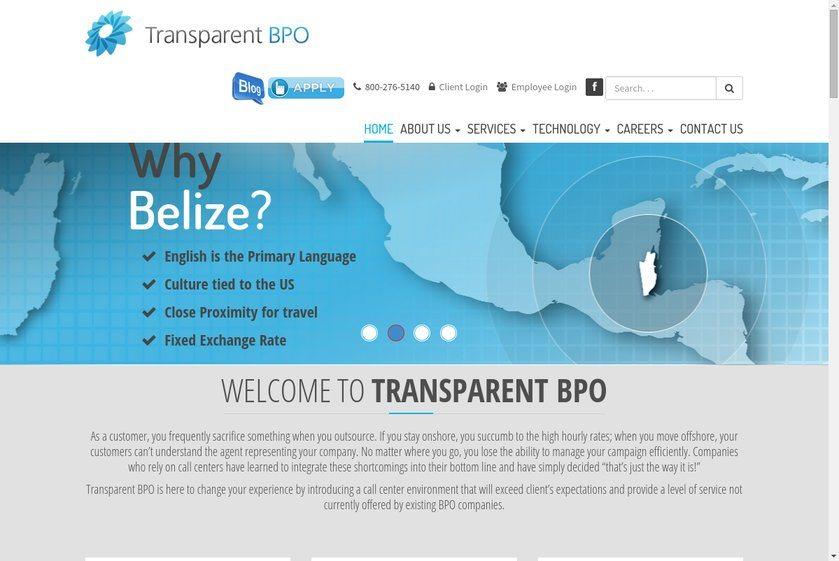 Transparent BPO Website