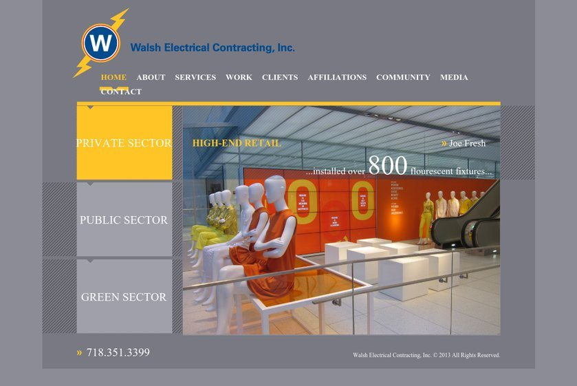 Walsh Electrical Contractingwal Website