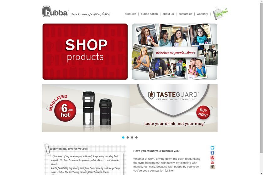 Bubba Brands Website