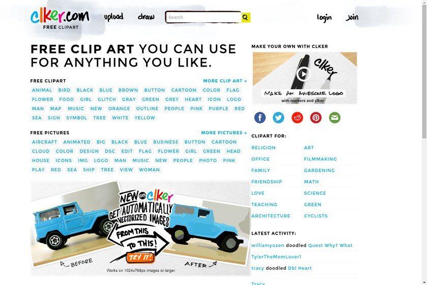 Clker Website