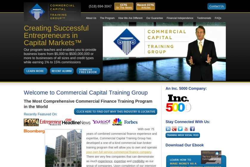 Commercial Capital Training Group Website