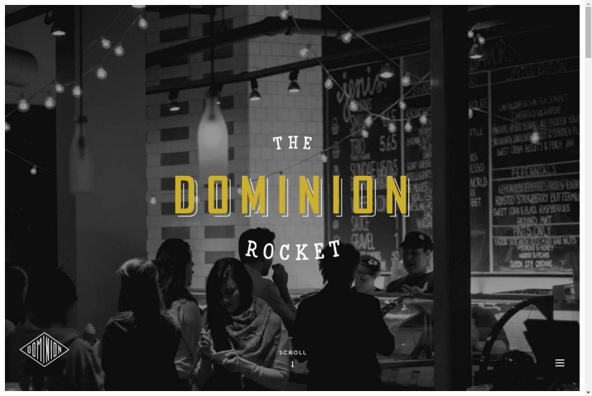 The Dominion Rocket Website