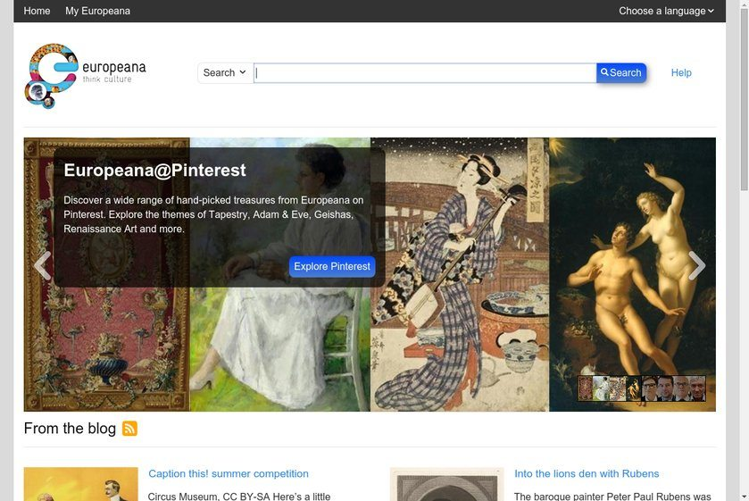 Europeana Portal Website