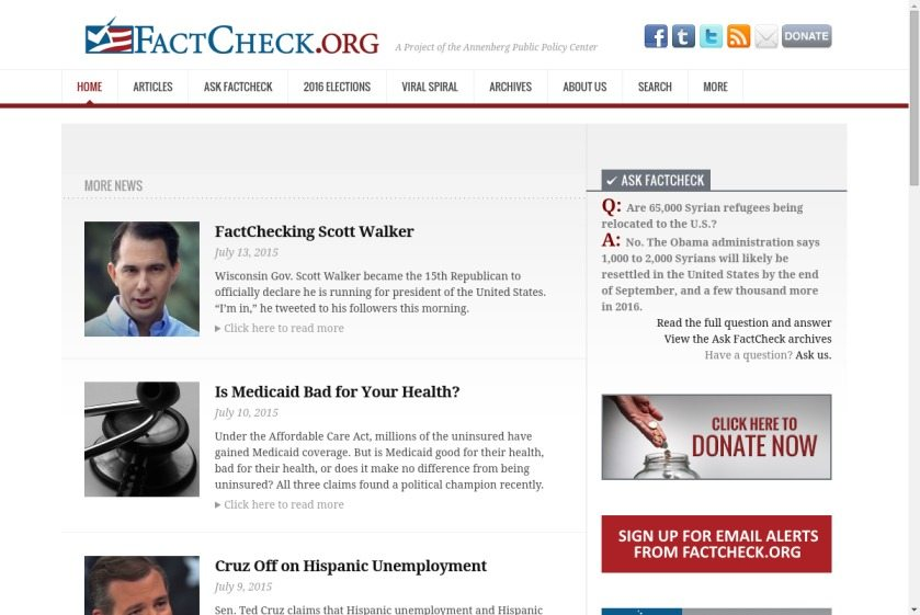Fact Check Website
