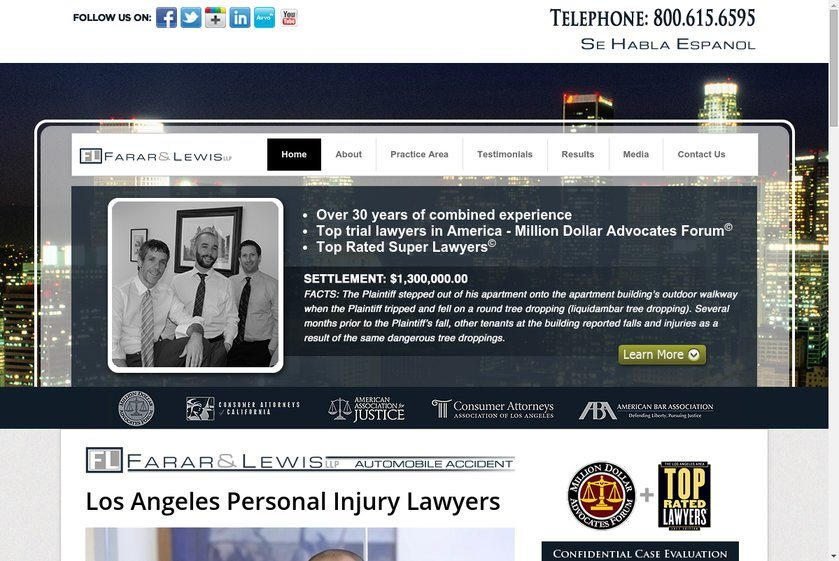 Farar & Lewis LLP Website