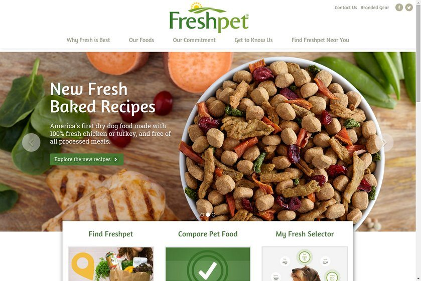 Freshpet Website