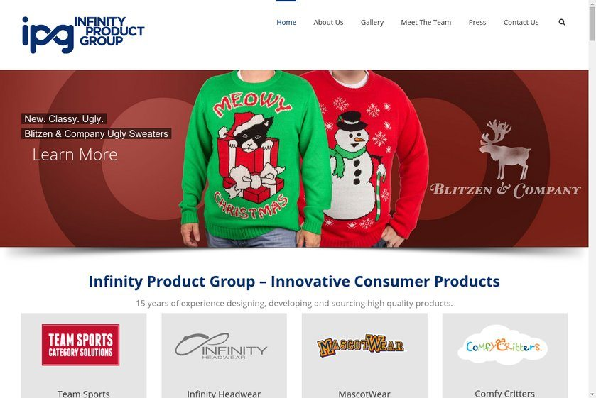 Infinity Product Group Website