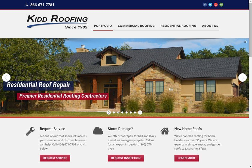Kidd Roofing Website
