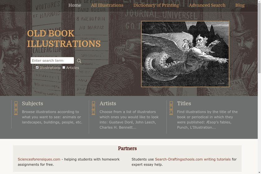 Old Book Illustrations Website