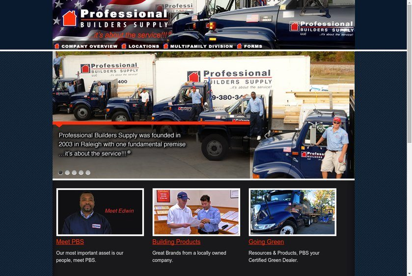 Professional Builders Supply Website