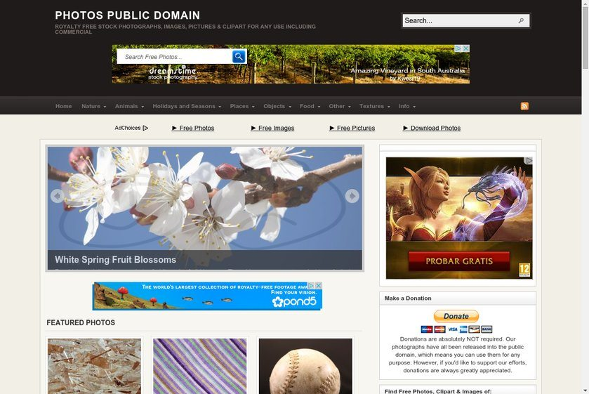 Photos Public Domain Website