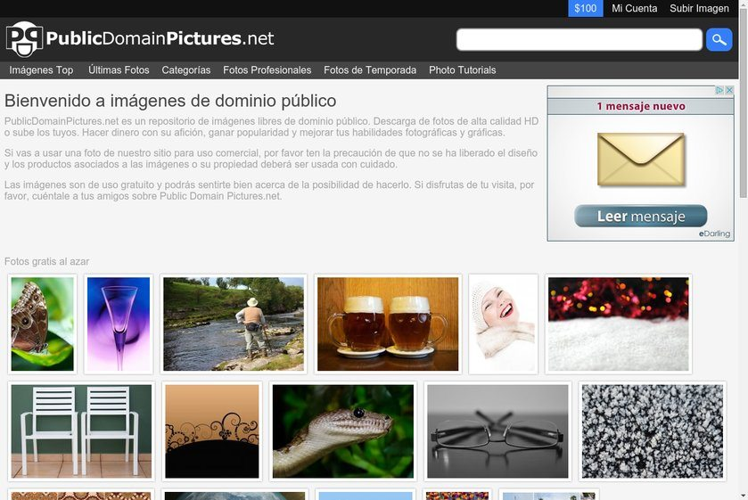 Public Domain Pictures Website