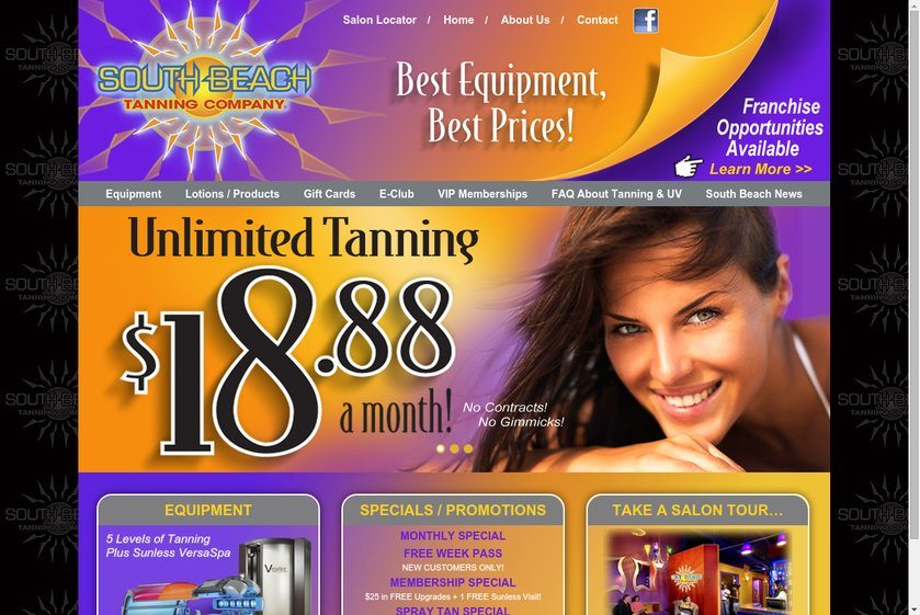 South Beach Tanning Company Website