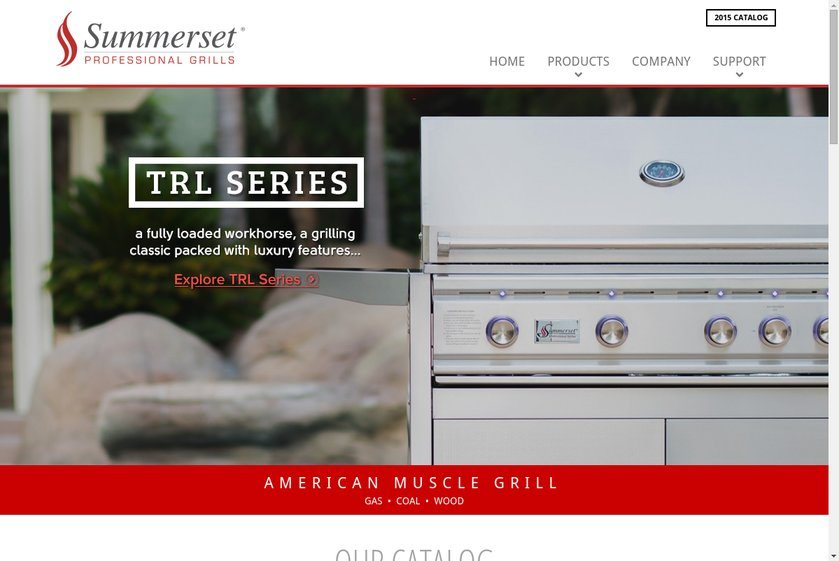 Summerset Professional Grills Website