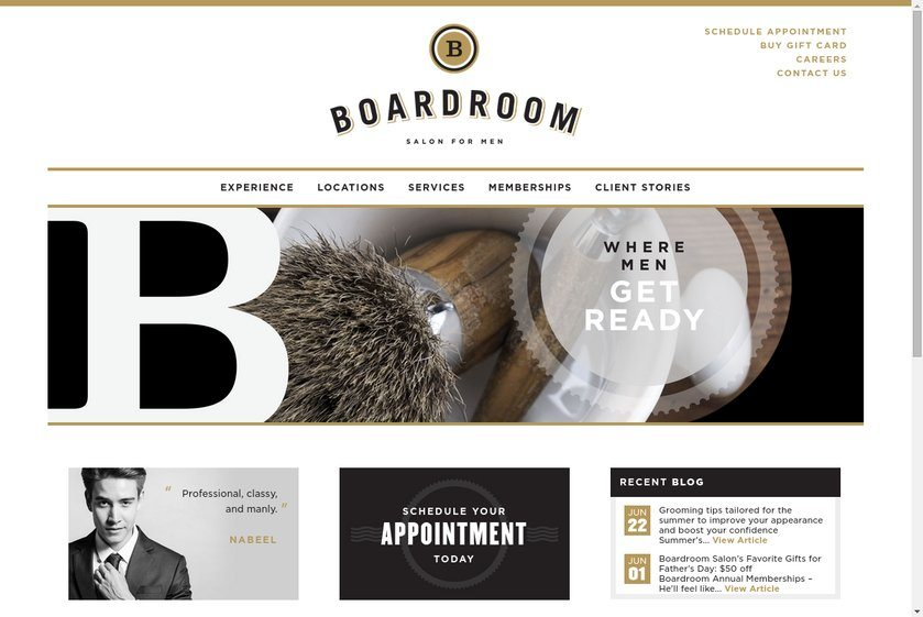 The Boardroom Salon for Men Website