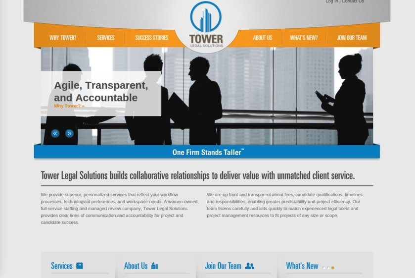 Tower Legal Solutions Website