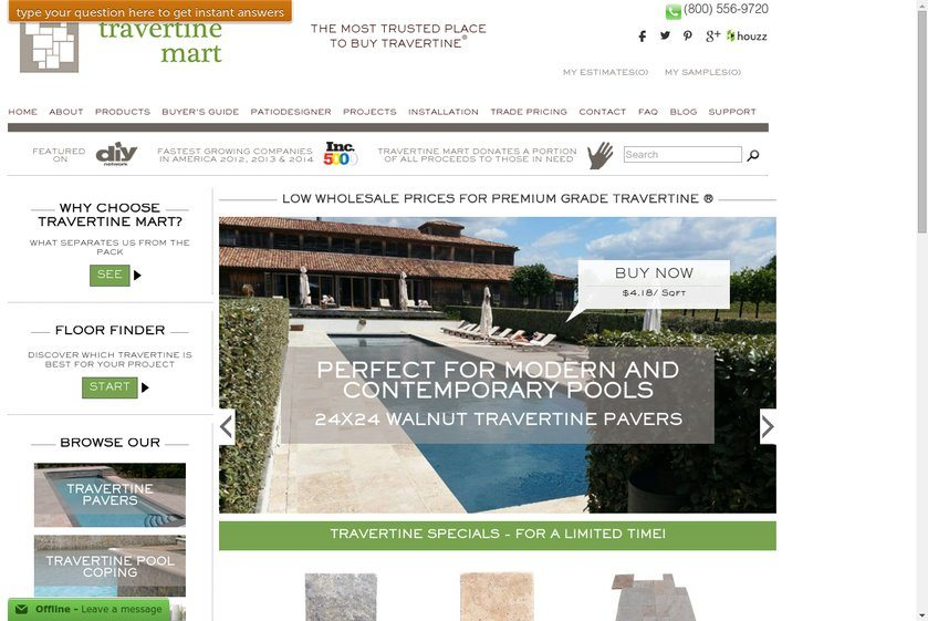 Travertine Mart Website