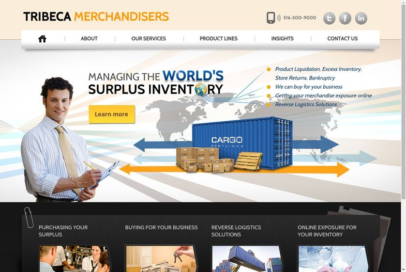 Tribeca Merchandisers Website