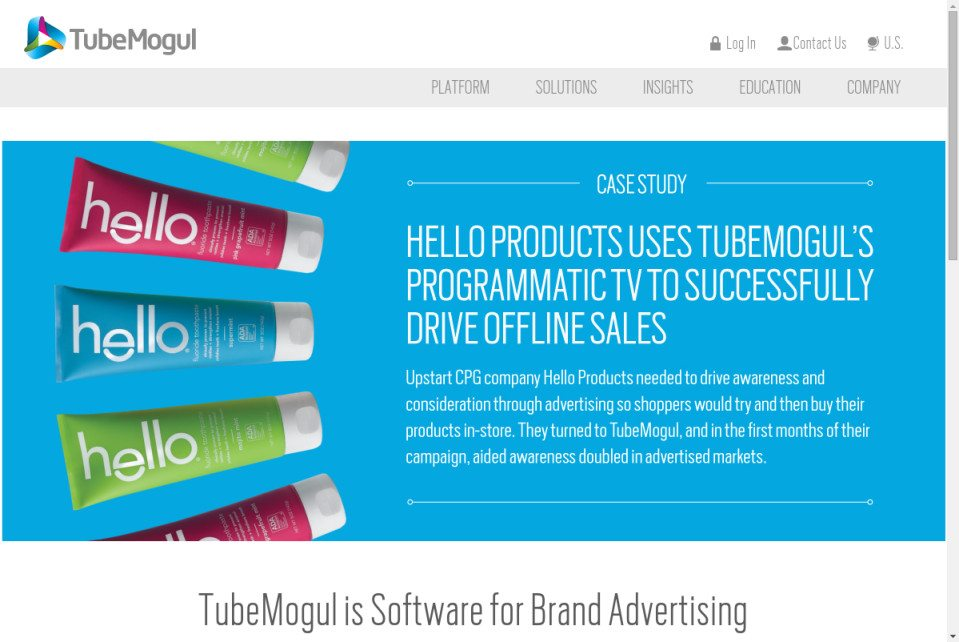 TubeMogul Website