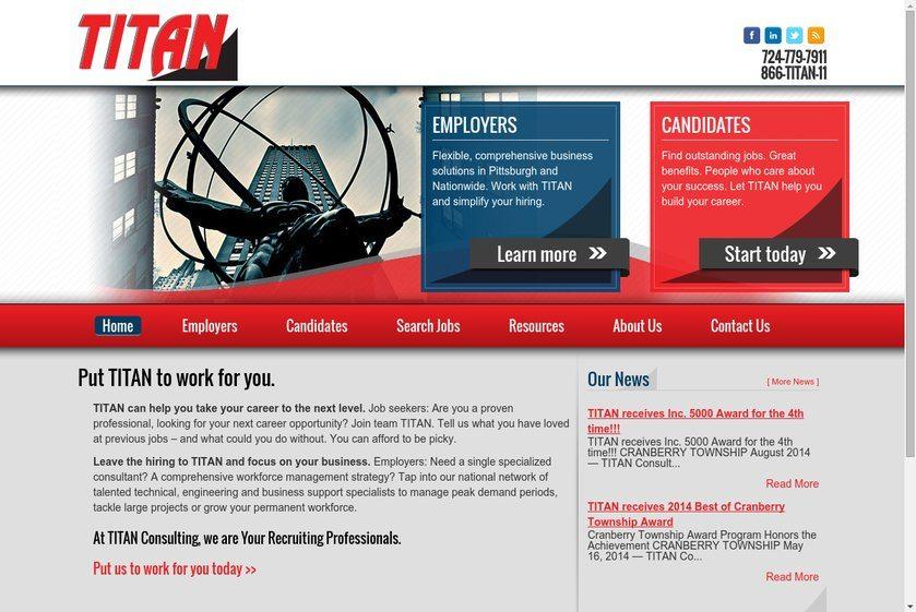 Titan Consulting Website