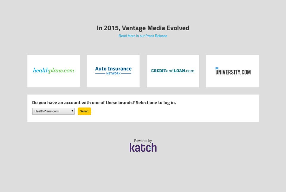 Vantage Media Marketplaces Website