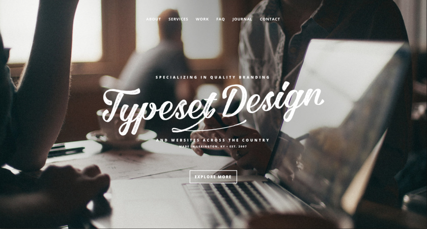 Typeset Design Website