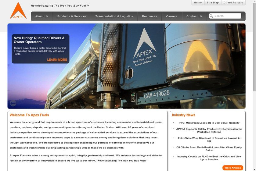 Apex Fuels Website