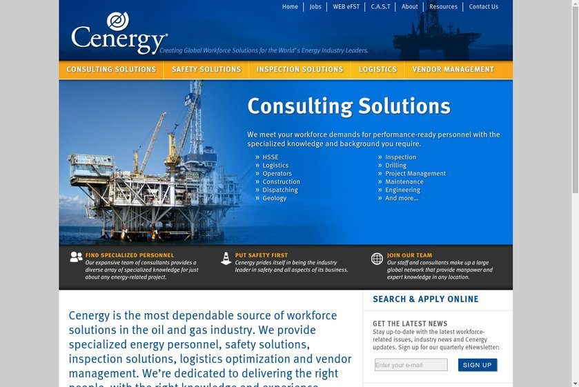 Cenergy International Solutions Website