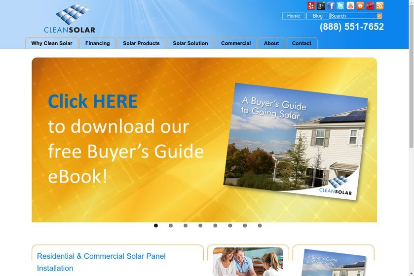 Clean Solar Website