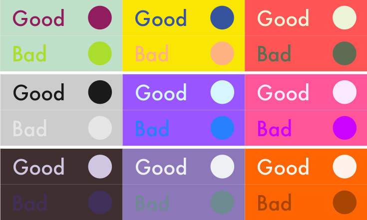 Which color converts the best - Contrast with green colour ...