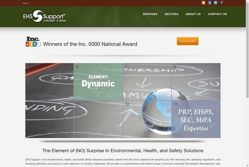 EHS Support Website