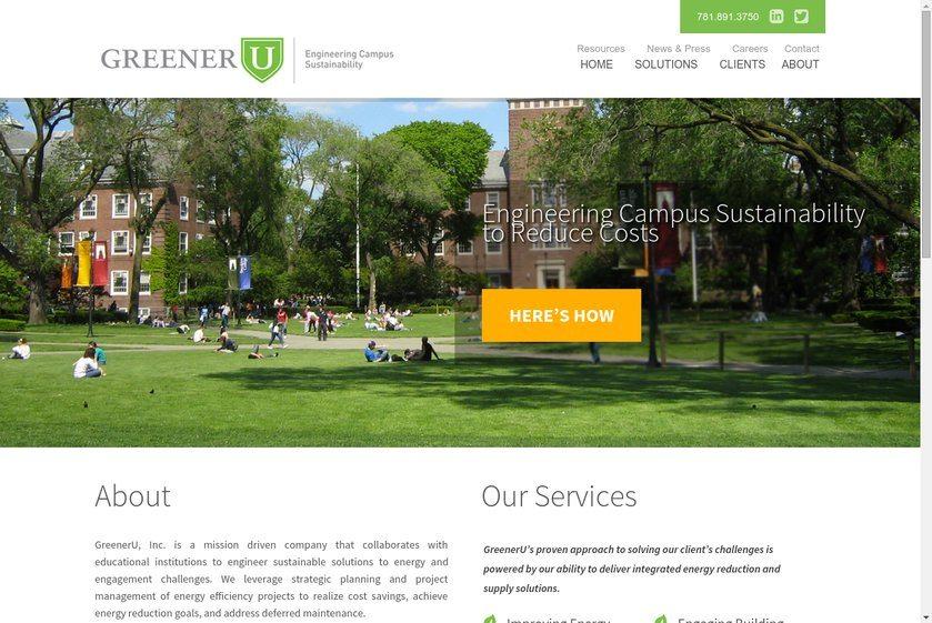 GreenerU Website