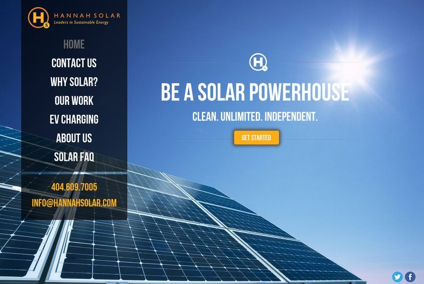 Hannah Solar Website