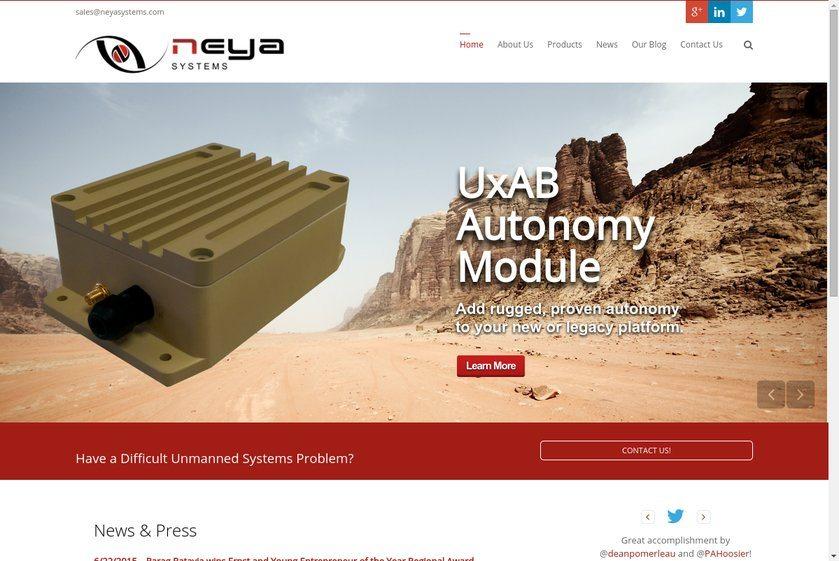 Neya Systems Website