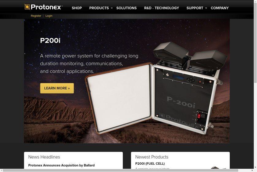 Protonex Technology Website