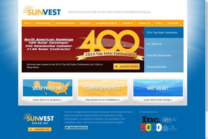 Sun Vest Website