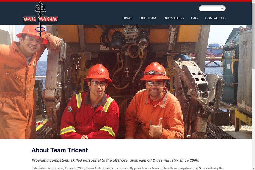 Team Trident Website