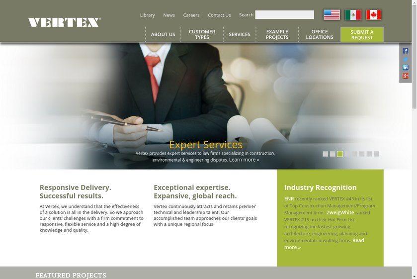 The Vertex Companies Website
