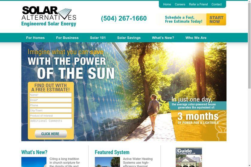 Solar Alternatives Website