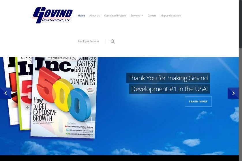 Govind Development Website