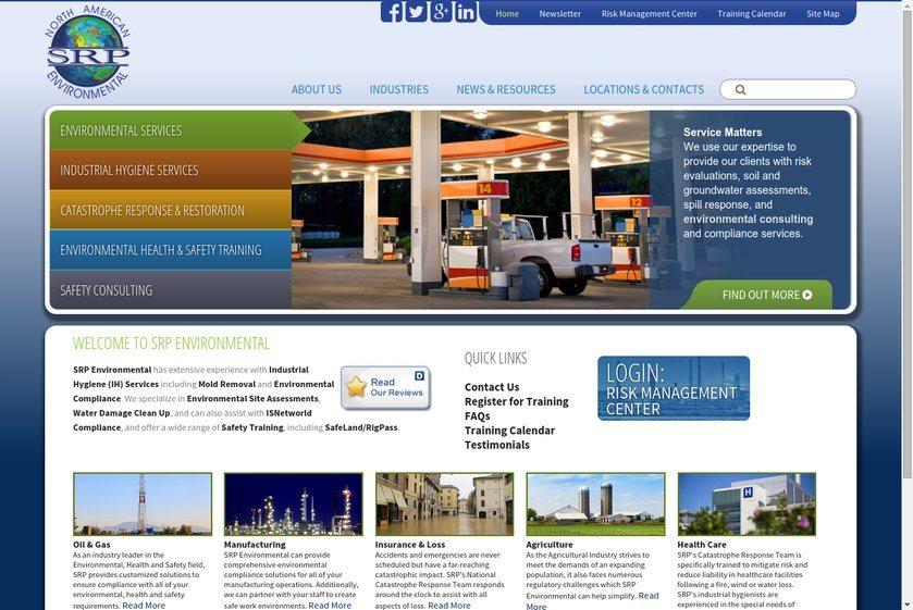SRP Environmental Website