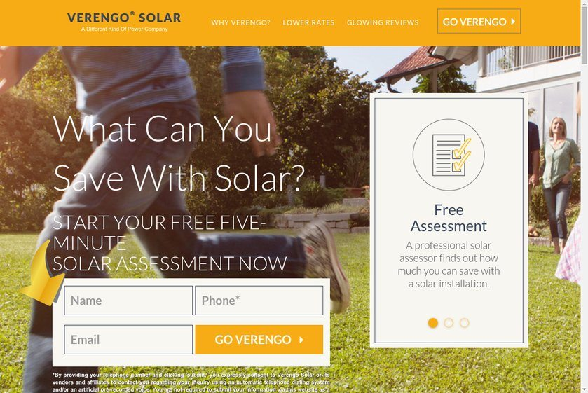 Verengo Solar Website