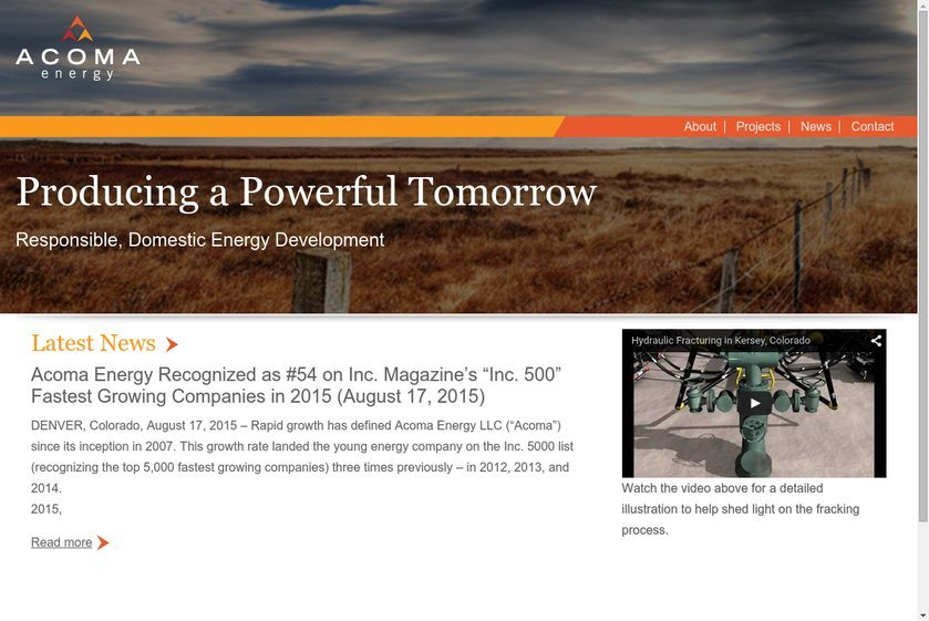Acoma Energy Website