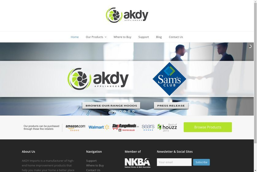 AKDY Imports Website