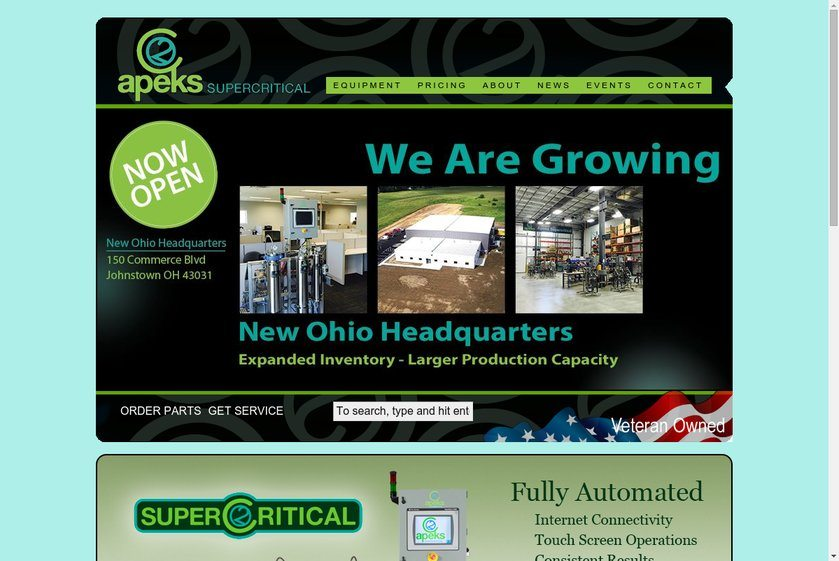 Apeks Supercritical Website