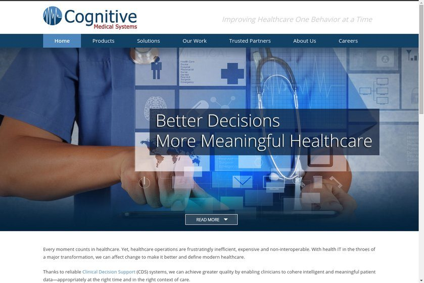 Cognitive Medical Systems Website